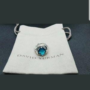 DAVID YURMAN BLUE TOPAZ INFINITY RING